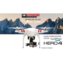 Phantom 2 with zenmuse H4-3D (GoPro 3(+)